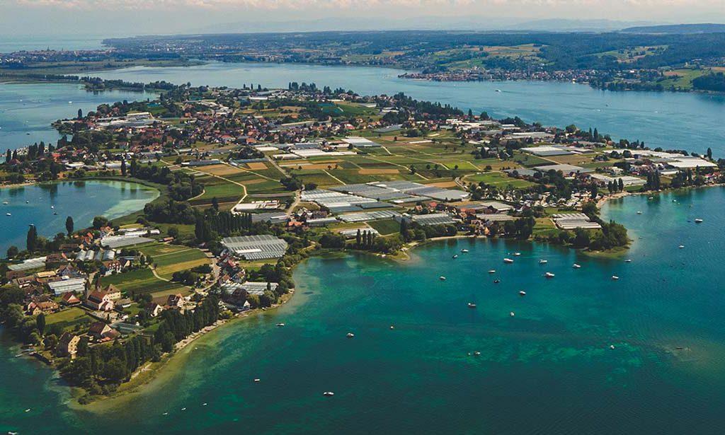 Insel Reichenau Luftaufnahme